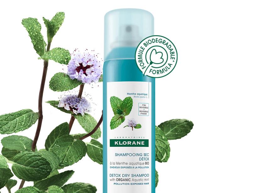 Shampoo secco alla Menta Acquatica Bio Klorane